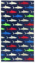 Shark Beach Towel in Blue