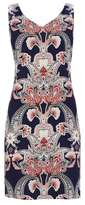 Wallis Petite Navy Paisley Print Shift Dress