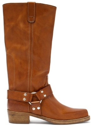 RE/DONE Cavalry Leather Knee-high Boots - Tan