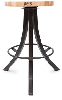 "John Boos Foundry Swivel Counter & Bar Stool Seat Height: ""Counter Stool (25.5"" Seat Height)"", Color: Black"