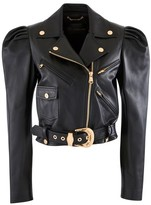 Versace Leather blouson jacket