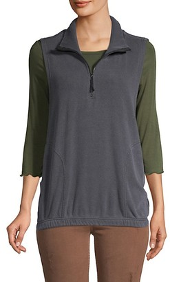 Free People Spread Collar Half-Zip Vest