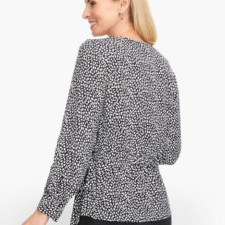 Talbots Faux Wrap Leopard Print Blouse