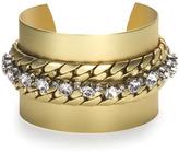 Gold Snake Rhinestone Cuff