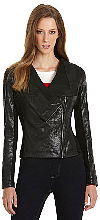 Vince Camuto TWO by Asymmetric-Zip Foil Jacket