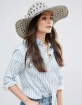 French Connection Oversized Straw Beach Hat