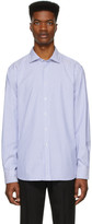 Ralph Lauren Purple Label Blue and White Striped Oxford Shirt