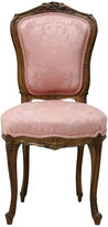 One Kings Lane Vintage Pink Victorian Walnut Chair