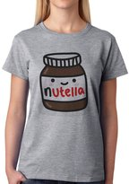 ANGRYDEER Nutella Tasty Spread Cheerful Face Jar Womens T-Shirt