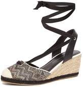 Dorothy Perkins Black 'Royal' Raffia Wedges