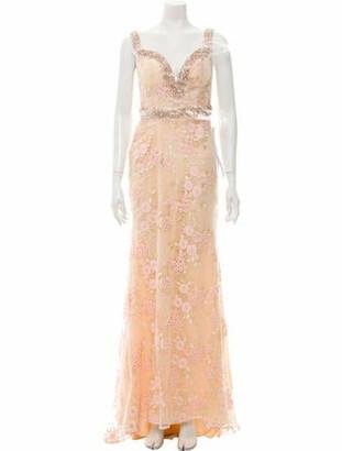 Mac Duggal Lace Pattern Long Dress w/ Tags