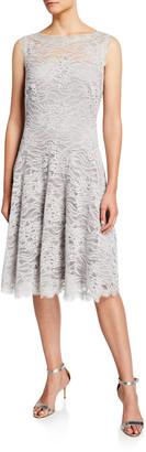 Tadashi Shoji Sleeveless Lace Illusion Dress