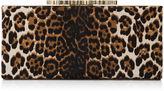 Jimmy Choo CELESTE Leopard Print Pony Clutch Bag with Crystal Clasp