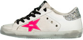 Golden Goose White and Pink Superstar Sneaker