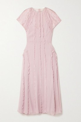 Jason Wu Collection Ruffled Silk-crepon Midi Dress - Blush