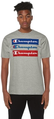 Champion Graphic Short Sleeve T-Shirt - Grey / Red