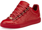 Balenciaga Crackled Leather Lace-Up Sneaker