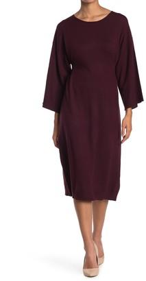 Max Studio Long Sleeve Sweater Dress