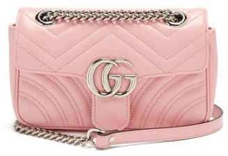 Gucci GG Marmont Mini Quilted-leather Cross-body Bag - Pink