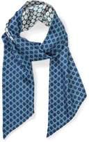 Milana Two On Tie Print Skinny Scarf