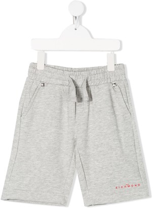 John Richmond Junior logo drawstring shorts