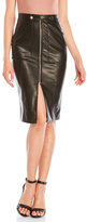 Missguided Faux Leather L Train Pencil Skirt