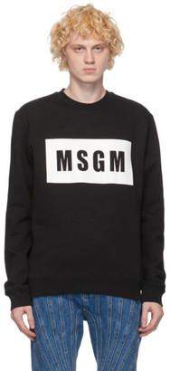 MSGM Black Logo Box Sweatshirt