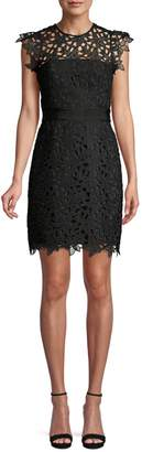 Milly Floral Lace Guipure Sheath Dress