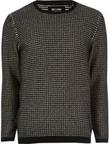 River Island MensBlack knit Only & Sons sweater
