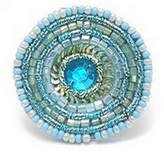 Ring Seed Bead And Sequin Confection (Pale Blue) Made With Glass by JOE COOL