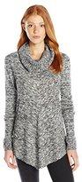 Amy Byer A. Byer Juniors Long Sleeve Cowl Neck Sweater Novelty Hem