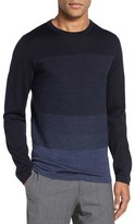 BOSS Men's Balasco Trim Fit Ombre Wool Crewneck Sweater