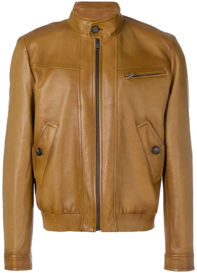 Prada zipped leather jacket