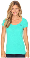 U.S. Polo Assn. Scoop Neck Solid T-Shirt