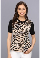 Rebecca Taylor S/S Jersey Combo Top