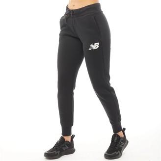 New Balance Womens Core Tapered Sweat Pants Black