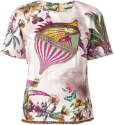 Etro fish print T-shirt - women - Cotton - 44