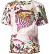 Etro - t-shirt à poisson imprimé -