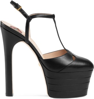 Gucci Leather platform pump