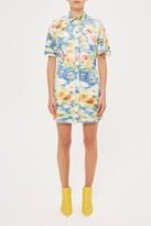 Topshop **Second Summer Floral Shirt Dress by Unique