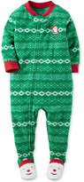 Carter's 1-Pc. Fair Isle Santa Footed Pajamas, Little Boys (2-7)
