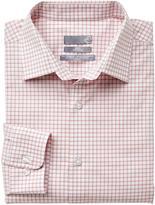 Sears Men's Long Sleeve Checkered Dress Shirt