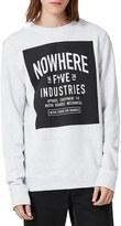 Topman Nowhere Graphic Crewneck Sweatshirt