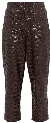 ÀCHEVAL PAMPA Al Viento High-rise Sequinned Tapered Trousers - Womens - Black