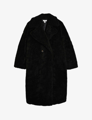 Topshop Whinnie double-breasted woven coat