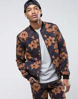 New Look Smart Bomber With Floral Print In Black