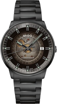 MIDO Commander Gradient Skeletal Automatic Bracelet Watch, 40mm