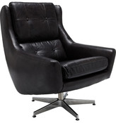 David Jones Detroit Leather Arm Chair Riders Black Leather