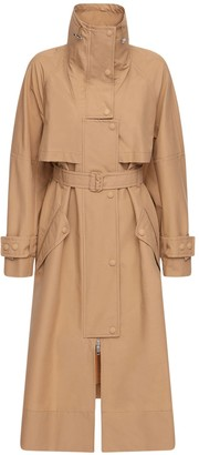 Sportmax Canvas Cotton Belted Trench Coat