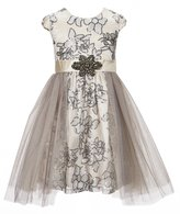 Bonnie Jean Just Another Angel Little Girls 4-6X Sequin-Embroidered Mesh Dress